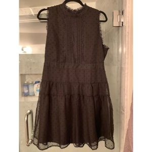 Black sleeveless eyelet mini dress NEVER WORN